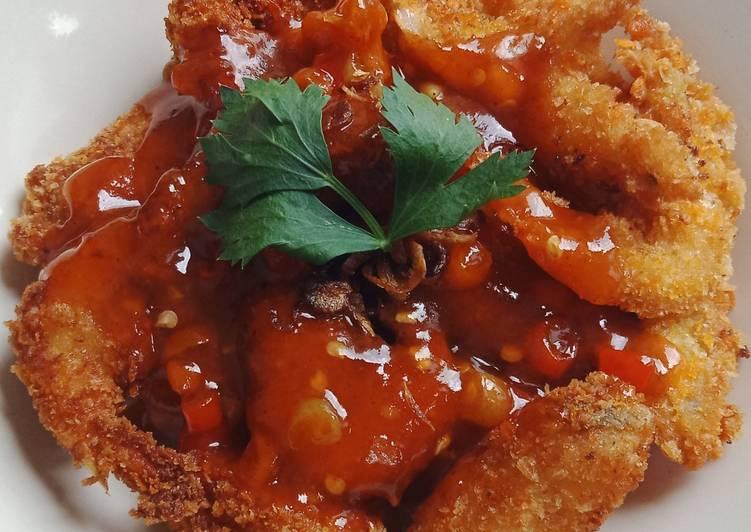 resep udang crispy pedas