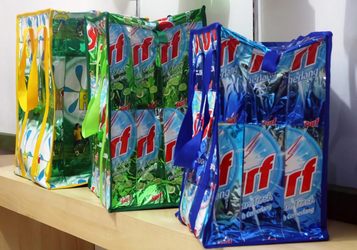 cara membuat tas dari plastik bekas deterjen