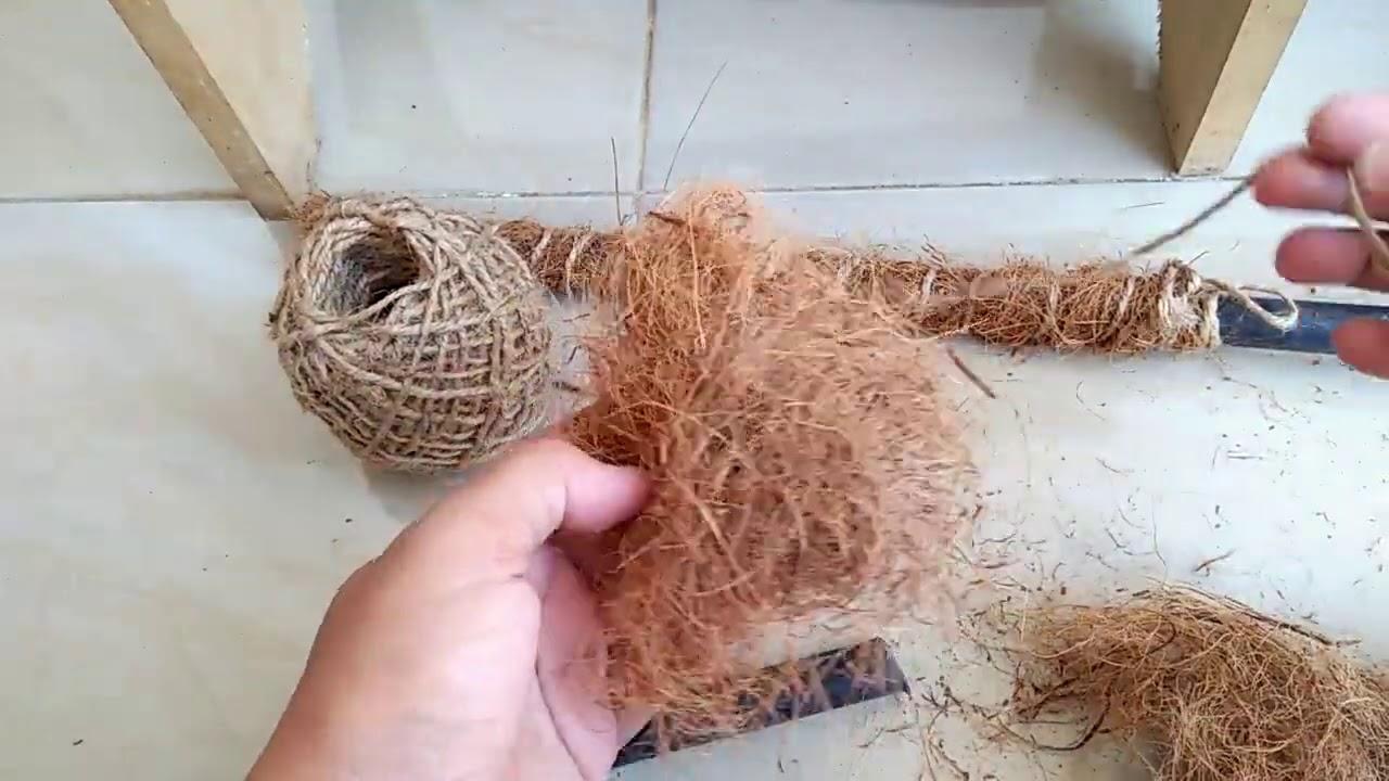 Cara Membuat Tali Dari Sabut Kelapa